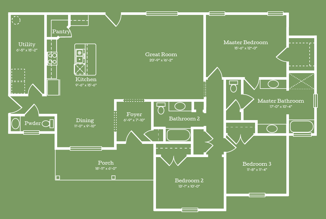 The Baldwin Floor Plan